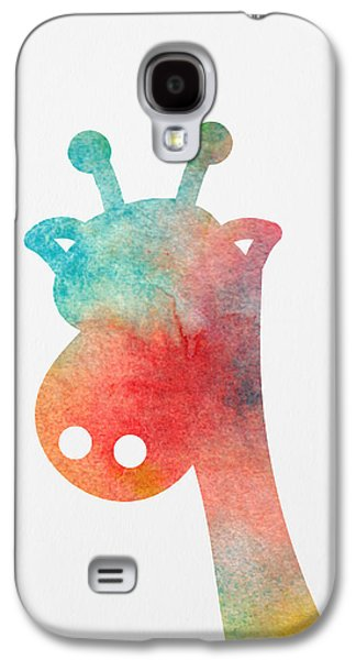 Watercolor Baby Giraffe Galaxy S4 Case