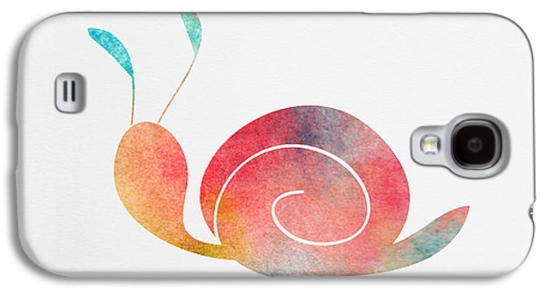Watercolor Baby Snail Galaxy S4 Case
