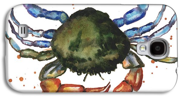 Watercolor Crab Painting Galaxy S4 Case by Alison Fennell
