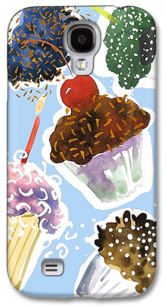 Watercolor Cupcakes With Sprinkles Galaxy S4 Case by Gillham Studios