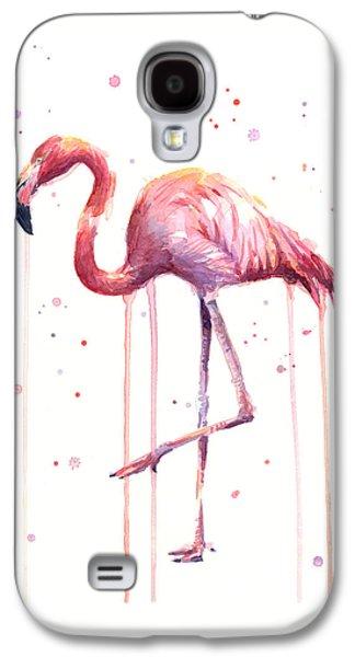 Watercolor Flamingo Galaxy S4 Case by Olga Shvartsur