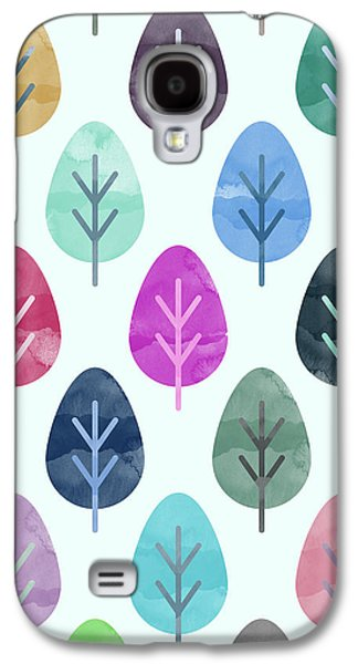 Watercolor Forest Pattern  Galaxy S4 Case