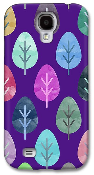 Watercolor Forest Pattern II Galaxy S4 Case by Amir Faysal