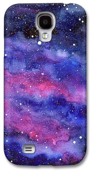 Constellations Galaxy S4 Case - Watercolor Galaxy Pink Nebula by Olga Shvartsur