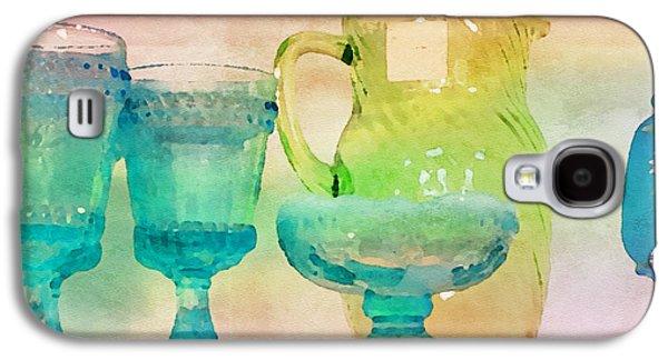 Watercolor Glassware II Galaxy S4 Case by Bonnie Bruno