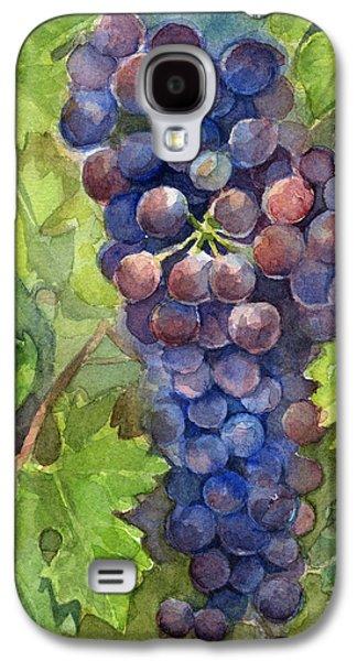 Watercolor Grapes Painting Galaxy S4 Case by Olga Shvartsur