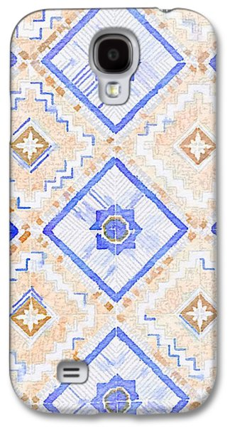 Watercolor Italian Ceramic Tile Galaxy S4 Case by Ariane Moshayedi