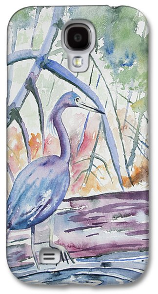 Watercolor - Little Blue Heron In Mangrove Forest Galaxy S4 Case