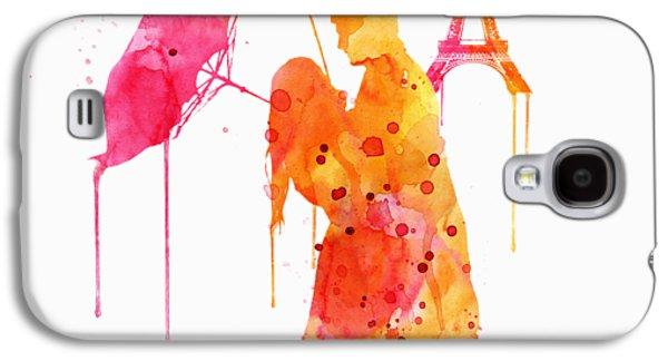 Watercolor Love Couple In Paris Galaxy S4 Case