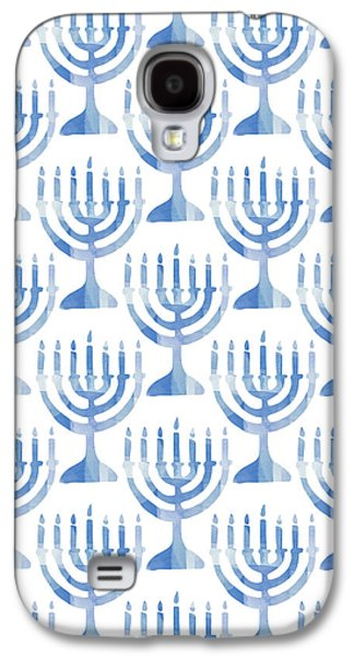 Watercolor Menorahs- Art By Linda Woods Galaxy S4 Case by Linda Woods