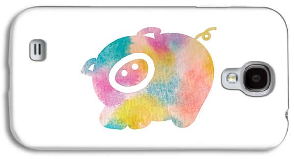 Watercolor Nursery Print - Cute Pig Galaxy S4 Case