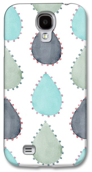 Watercolor Raindrops Galaxy S4 Case by Christina Steward