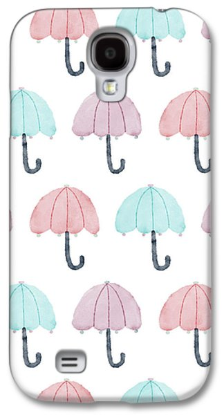 Watercolor Umbrellas Galaxy S4 Case by Christina Steward