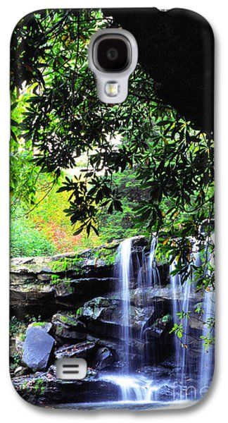 Waterfall And Rhododendron Galaxy S4 Case