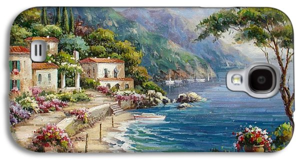 Waterfront Villas At Como Lake Galaxy S4 Case by Lucio Campana