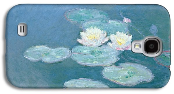 Impressionism Galaxy S4 Case - Waterlilies Evening by Claude Monet