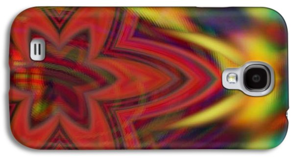 Abstracts Galaxy S4 Cases - Wave Stars  Galaxy S4 Case by Daniel  Arrhakis