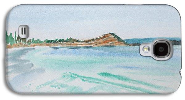 Waves Arriving Ashore In A Tasmanian East Coast Bay Galaxy S4 Case