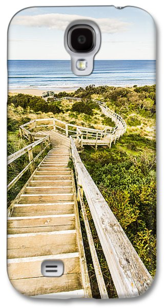 Way To Neck Beach Galaxy S4 Case by Jorgo Photography - Wall Art Gallery