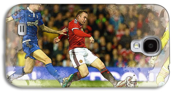 Wayne Rooney Of Manchester United Scores Galaxy S4 Case by Don Kuing