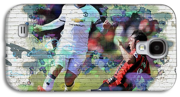 Wayne Rooney Street Art Galaxy S4 Case by Don Kuing