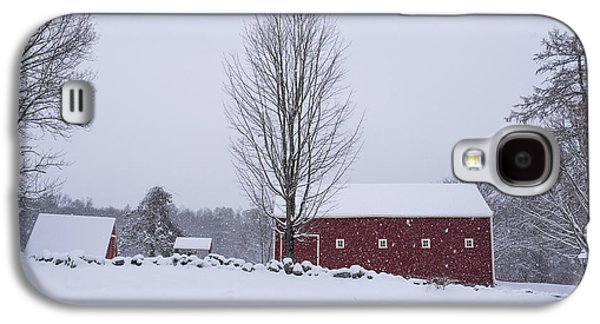 Wayside Inn Grist Mill Covered In Snow Storm 2 Galaxy S4 Case by Toby McGuire