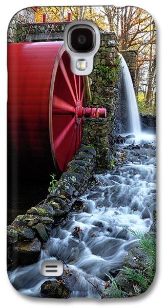 Wayside Inn Grist Mill Water Wheel Galaxy S4 Case by Betty Denise