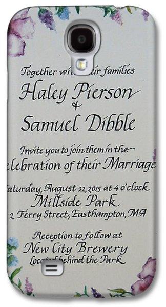 Wedding Invitation Galaxy S4 Case by Valerie Bassett