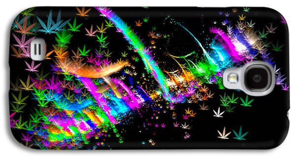 Weed Art - Colorful Fractal Joint Galaxy S4 Case by Matthias Hauser