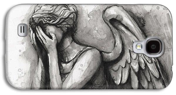 Weeping Angel Watercolor Galaxy S4 Case by Olga Shvartsur