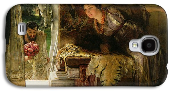Welcome Footsteps Galaxy S4 Case by Sir Lawrence Alma-Tadema