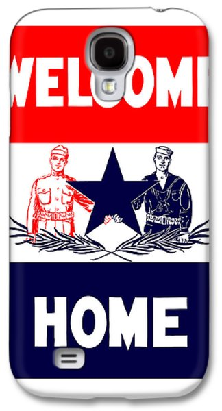 Vintage Welcome Home Military Sign Galaxy S4 Case by War Is Hell Store