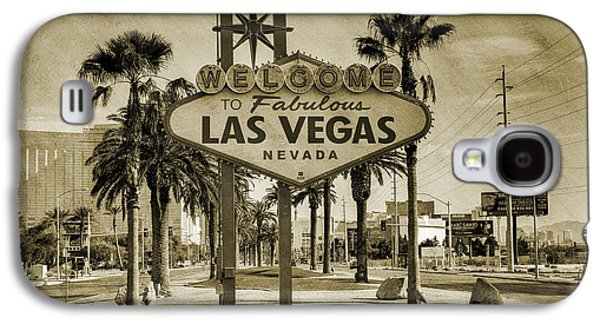 Welcome To Las Vegas Series Sepia Grunge Galaxy S4 Case