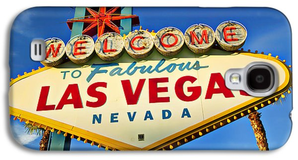 Colored Galaxy S4 Case - Welcome To Las Vegas Sign by Garry Gay