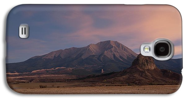 Galaxy S4 Case featuring the photograph West Spanish Peak Sunset by Aaron Spong