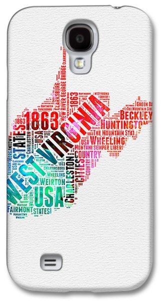 West Virginia Watercolor Word Cloud Map  Galaxy S4 Case