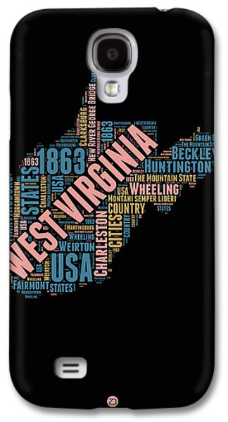 West Virginia Word Cloud Map 1 Galaxy S4 Case by Naxart Studio