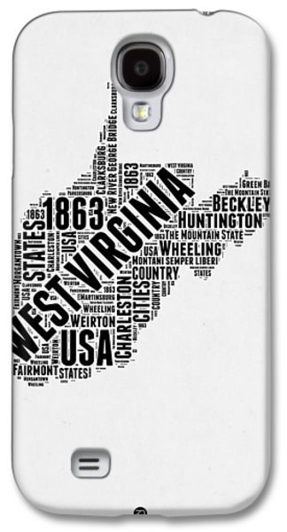 West Virginia Word Cloud Map 2 Galaxy S4 Case