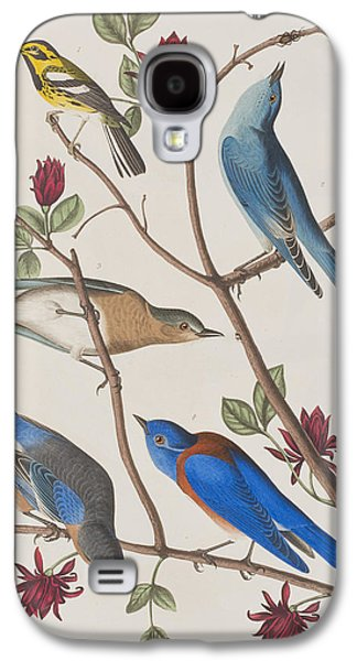Bluebird Galaxy S4 Case - Western Blue-bird by John James Audubon