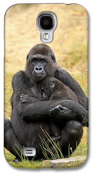 Western Gorilla And Young Galaxy S4 Case