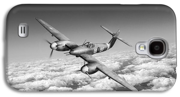 Galaxy S4 Case featuring the photograph Westland Whirlwind Portrait Black And White Version by Gary Eason