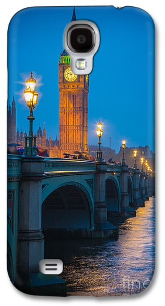 Westminster Bridge At Night Galaxy S4 Case by Inge Johnsson