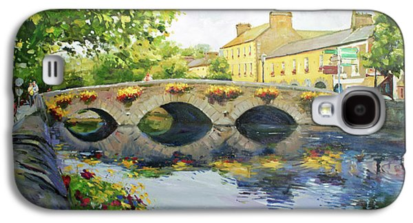 Town Paintings Galaxy S4 Cases - Westport Bridge County Mayo Galaxy S4 Case by Conor McGuire