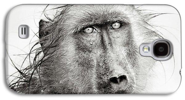 Wet Baboon Portrait Galaxy S4 Case