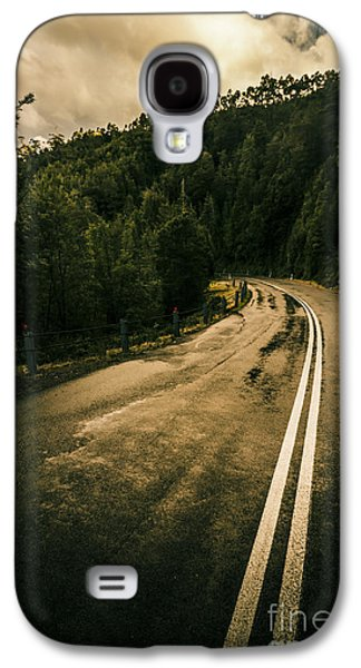 Wet Highland Road Galaxy S4 Case by Jorgo Photography - Wall Art Gallery