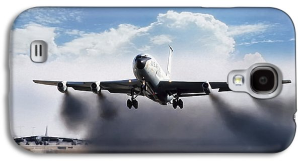 Airplane Galaxy S4 Case - Wet Takeoff Kc-135 by Peter Chilelli
