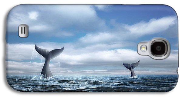 Whale Of A Tail Galaxy S4 Case by Tom Mc Nemar