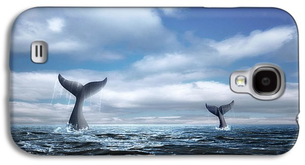 Whale Of A Tail Galaxy S4 Case