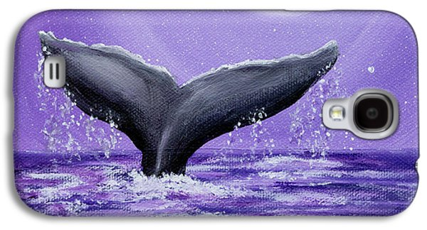 Whale Tail In Lavender Moonlight Galaxy S4 Case