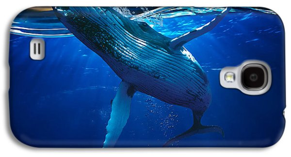 Whale Watching Art Galaxy S4 Case by Marvin Blaine